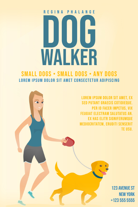 Dog walker flyer template postermywall dog walker flyer template maxwellsz