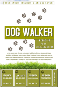 free dog walking flyer template