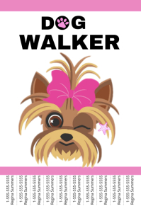 Customizable Design Templates for Dog Walker Template | PosterMyWall