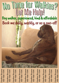 Dog Walker Flyer Tabbed Template