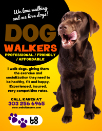 Customizable design templates for dog walker postermywall dog walkers flyer maxwellsz
