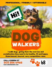Customizable design templates for dog walker postermywall dog walkers flyer pronofoot35fo Choice Image