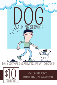 Dog Walking Poster