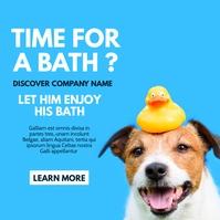 dog wash and caring business Publicación de Instagram template