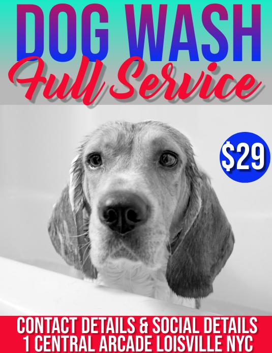 dog wash Flyer (format US Letter) template