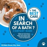 dog wash instagram post advertisement light a template