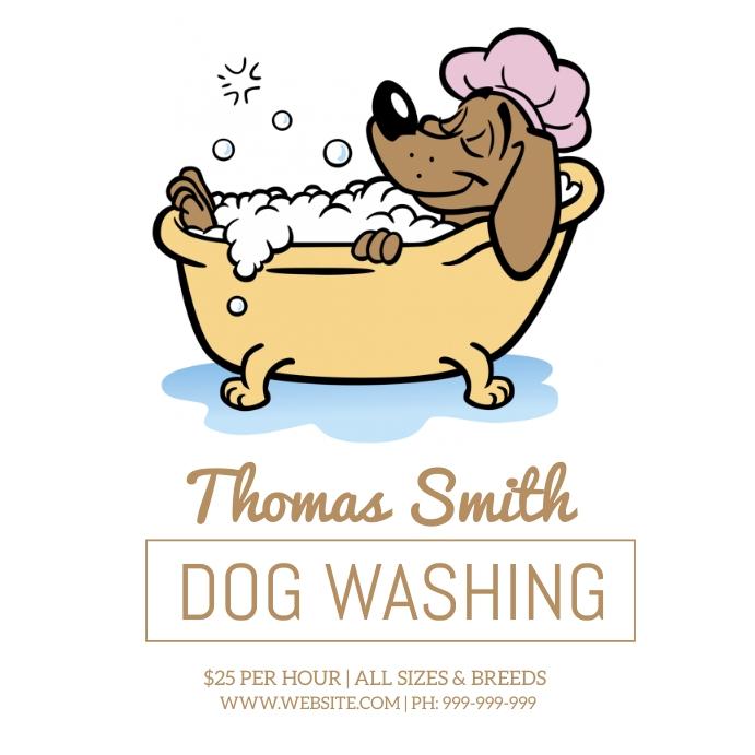 Dog Washing Poster template
