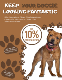 Doggie Parlor / Grooming Flyer Template Volante (Carta US)