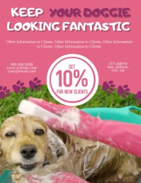 Doggie Parlor / Grooming Flyer Template