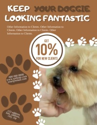 Doggie Parlor / Grooming Flyer Template Folheto (US Letter)