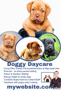 doggy-daycare-poster-template-f6016f11cf493236ebf5a1d7f9d3d723 Letter Template For Shelter Care on matching animal, for bears winter, auto insurance card, insurance business card, program design, animal information sheet, place checklist, dog button,