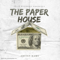 THE PAPER HOUSE Mixtape Cover Art Template