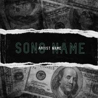 dollar money mixtape cover art template Okładka albumu
