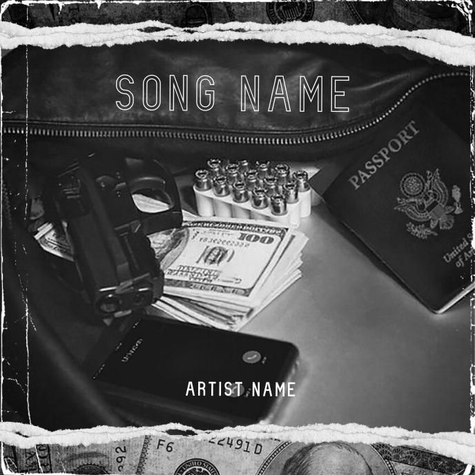 dollar money mixtape cover art template 专辑封面