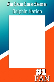 Dolphins Football Photo Prop Frame