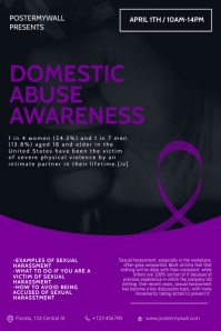 domestic abuse Awareness Month Flyer Template Poster