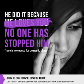 Domestic Abuse Quote Image Template