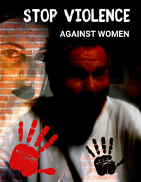 Domestic violence,stop violence, women Pamflet (VSA Brief) template