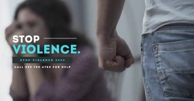 Domestic Violence Awareness Video Campaign Facebook Advertensie template