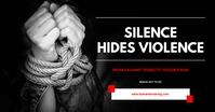 Domestic violence flyer Obraz udostępniany na Facebooku template
