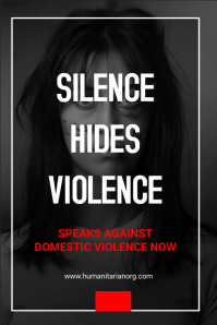 Domestic violence flyer Poster template