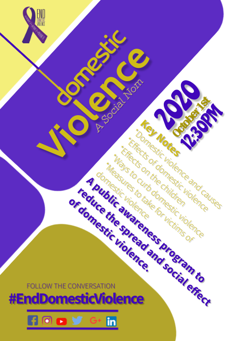 Domestic violence flyer A6 template