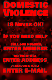 domestic violence is never ok!