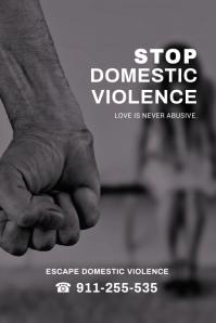 Domestic VIolence Poster Design template