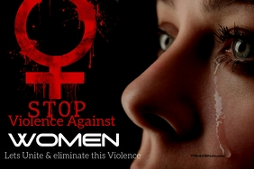 Domestic violence poster template