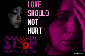 Domestic violence template Poster