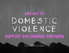 Domestic Violence Template Flyer (US Letter)