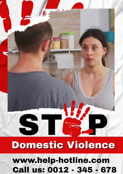 Domestic Violence video poster A4 template
