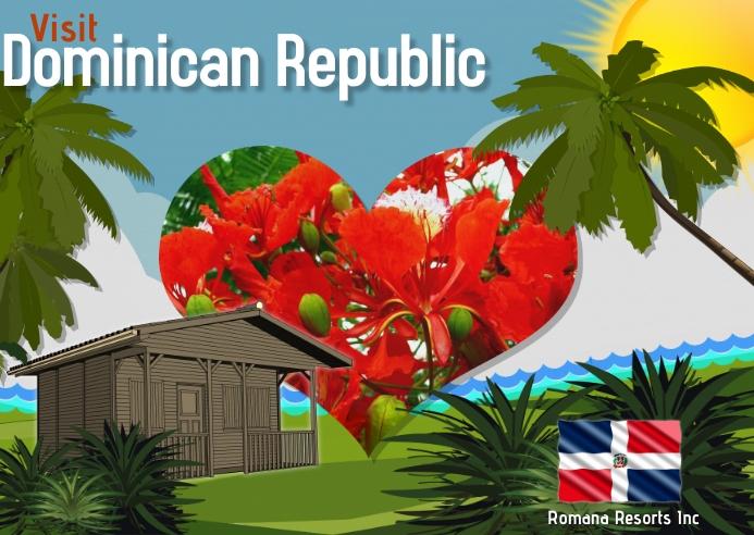 Dominican Republic/travel/resorts/hispanic Postkort template