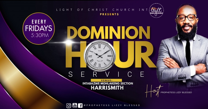 Dominion hour flyer Gedeelde afbeelding op Facebook template