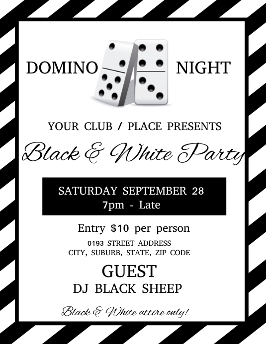 Domino Night Club Event Flyer Template