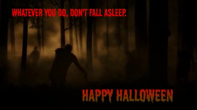 Don't Fall Asleep Zombies Music Video Tampilan Digital (16:9) template