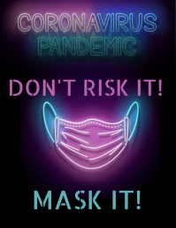 Don't Risk It! Mask It! ใบปลิว (US Letter) template