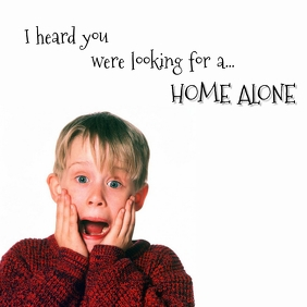 Don't search for a Home Alone Instagram Post template