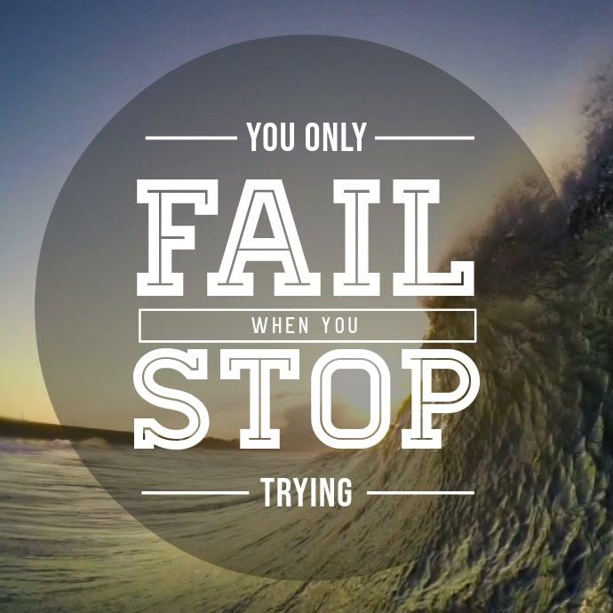 Don't Stop Success Motivational Animation