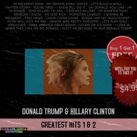 DONALD TRUMP HILLARY CLINTON CD