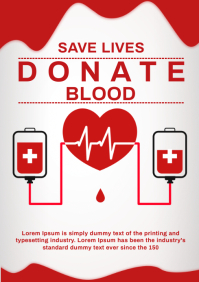 Donate blood A4 template