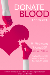 Donate Blood Poster Template