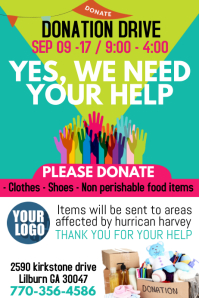 DONATIONS  Donation Flyer Template