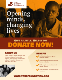 Donation Poor Poster Flyer Template