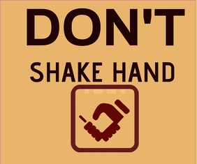 DONT SHAKE HAND TEMPLATE 中型广告