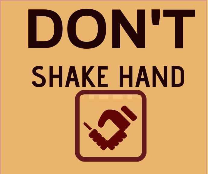 DONT SHAKE HAND TEMPLATE Mellemstort rektangel