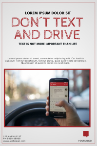 Dont text and drive flyer template