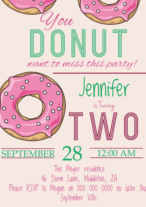 Donut Birthday Party
