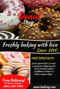 donut chocolate Poster template