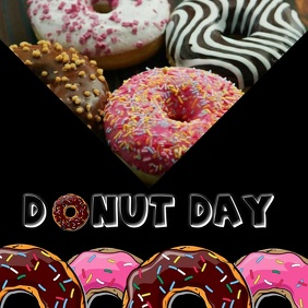 Donut Day Instagram Post template